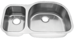 Tritan Linden 30/70 Reverse TU-405DR Double Bowl Stainless Steel Kitchen Sink