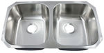 Leonet LE-191A Victoria 50/50 Double Bowl Undermount Stainless Steel Kitchen Sin