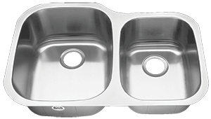 Tritan TU-002 Atlas 16 Gauge Stainless Steel Double Bowl Undermount Kitchen Sink