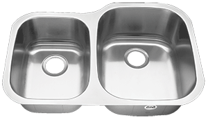 Tritan Atlas Reverse 40/60 TU-003 Double Bowl Stainless Steel Kitchen Sink