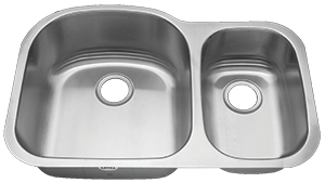 Tritan Ventura 70/30 TU-004 Double Bowl Stainless Steel Kitchen Sink