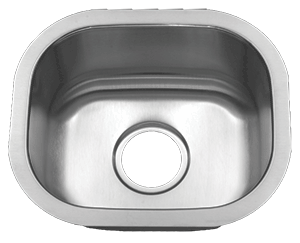 Tritan TU-0705 Sterling 16 Gauge Stainless Steel Single Bowl Undermount Kitchen