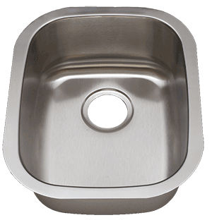 Tritan TU-0805 Clifton 16 Gauge Stainless Steel Single Bowl Undermount Kitchen