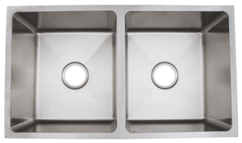 Urban Place Radial  Corner R ZS-100 Double Bowl Stainless Steel Kitchen Sink
