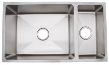 Urban Place Radial Edge R- ZS-200 Double Bowl Stainless Steel Kitchen Sink