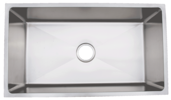 Urban PlaceRadial Edges R- ZS-300 Single Bowl Stainless Steel Kitchen Sink