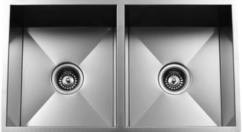 Urban Place Zero Edge ZS-100 Double Bowl Stainless Steel Kitchen Sink